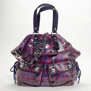 Limited Edition Coach Poppy Tartan Sequin Bag